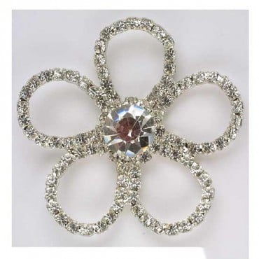 Five Petal Rhinestone Flower Button