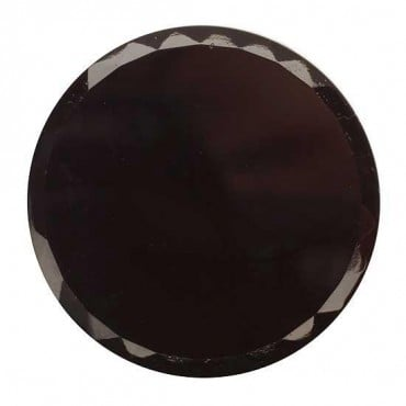 SHINY GLASS FASHION BUTTON - BLACK