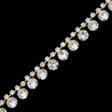 "3/8"" RHINESTONE CHAIN TRIM"