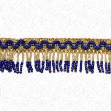 "1 1/4"" (32mm) Beaded Fringe With Knit Tape"