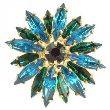 Crystal Star Rhinestone Button