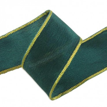 IMPORTED WIRED EDGE WOVEN RIBBON