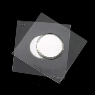 Magnet W/Plastic Seal - Silver Magnet/Transparent