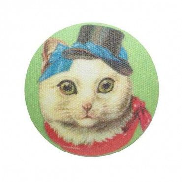 Cat Hat Button