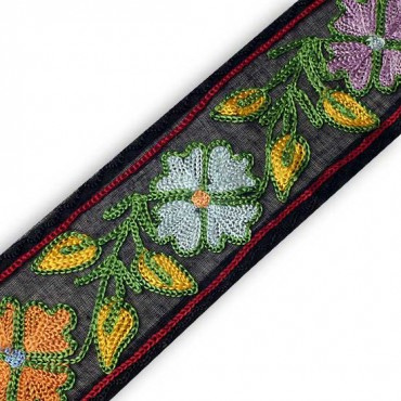 "2.25"" HAND EMBROIDERED BORDERS"