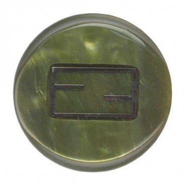 POLYESTER BUTTON WITH INLAY