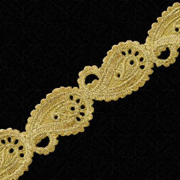 27MM METALLIC PAISLEY IRON-ON TRIM