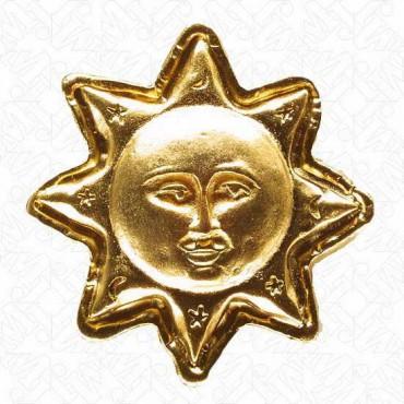 METAL SUN BUTTON