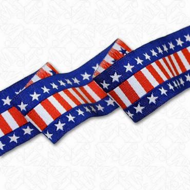 "7/8"" (23mm) American Flag Ribbon"
