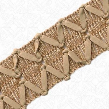 """1"""" FAUX LEATHER AND WOOL BRAID"""