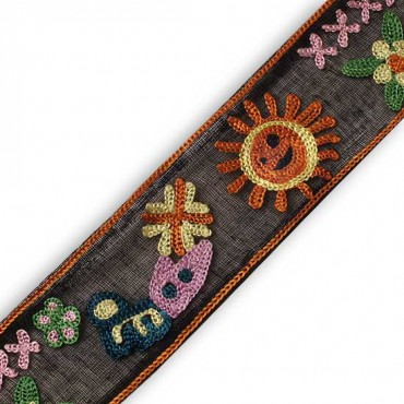 "1 1/2"" (38mm) Hand Embroidered Ribbon"