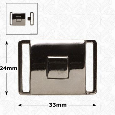 Metal Push Center Buckle