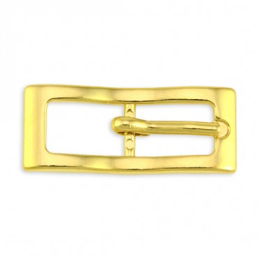 RECTANGULAR ZIGZAG METAL BUCKLE WITH PRONG