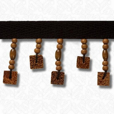 "1 1/2"" (38mm) Wood Beaded Fringe"