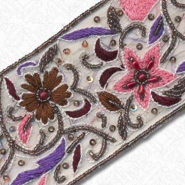 """2 1/2"""" (64mm) Beaded Embroidery"""
