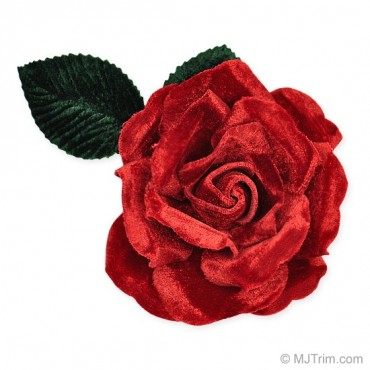 "3"" X 5 1/2"" Velvet Rose With Pin"