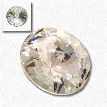 Rivoli Rhinestone Button with Shank