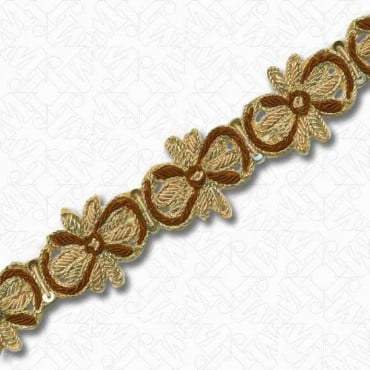 "1 1/4"" (32mm) Metallic Bullion Trim"