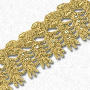 "2 1/2"" (64mm) Metallic Bullion Trim"