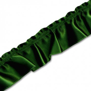 40MM IMPORTED DOUBLE FACE SATIN RUFFLED EDGING