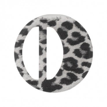 Cheetah Pattern Round Buckle