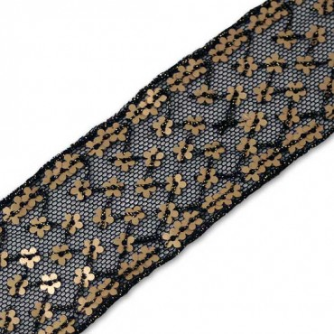 36mm Daisy Sequin Embroidered On Netting