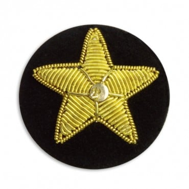 Star Covered Velvet Button