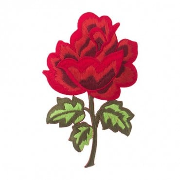 Iron on Large Red Rose Patch