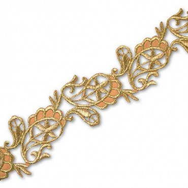 45MM HEAT SEAL FLORAL METALLIC TRIM (Default)