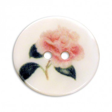SHELL BUTTON WITH ROSE