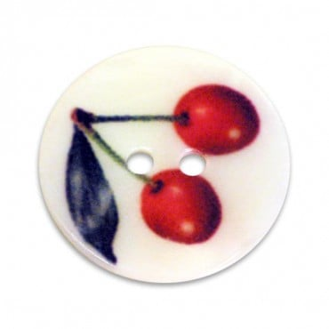 Shell Button with Cherry