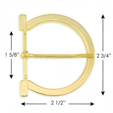 Horse Shoe D-Shaped Metal Buckle