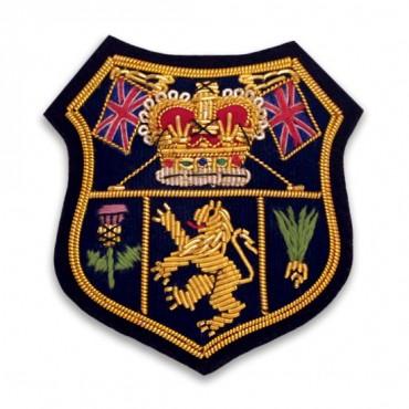 "2 1/4"" X 2 1/8"" British Bullion Crest - Gold Multi"