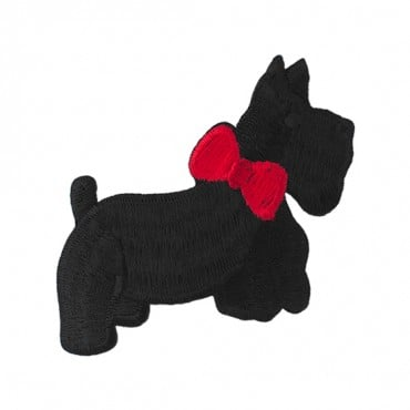 "3"" (77mm) Scottie Dog Applique"