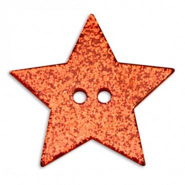 Glitter Star Button