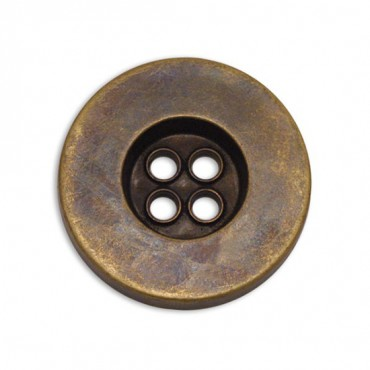 Faux Metal Button 4-Holes