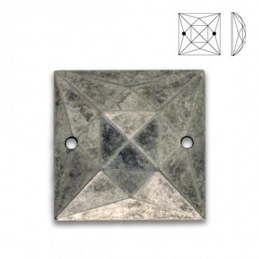 17mm Square Metallic Sew-On Jewel