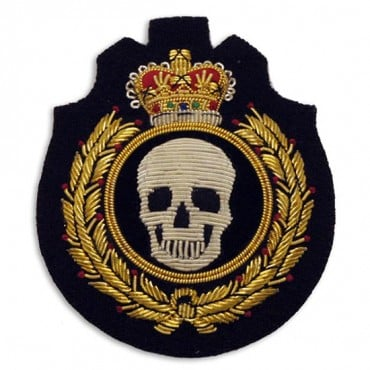 Sew On Skull Bullion Crest Applique