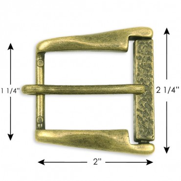 "1 1/4""X2"" Metal Buckle W/Prong"