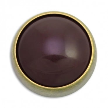Domed Jewel Setting Fashion Button with Shank