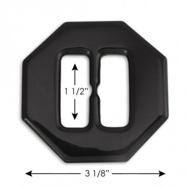 "3 1/8"" PLASTIC BUCKLE - BLACK"