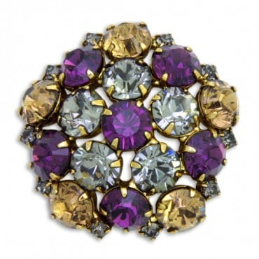 Crystal Octagon Rhinestone Button