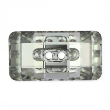 Rectangular Rhinestone Button