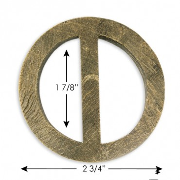 """2 3/4"""" Round Horn Buckle"""