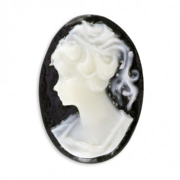 14X10MM OVAL WOMEN HEAD CAMEO