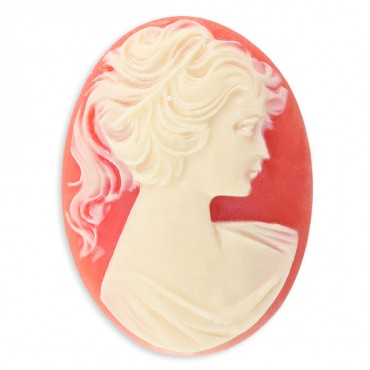 40X30mm Oval Women Head Cameo