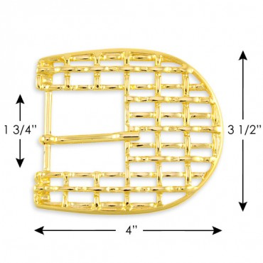 WEBBED D-SHAPED OVERSIZED METAL BUCKLE
