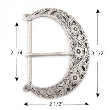 """2 1/4 """" X 2 1/2"""" Metal Buckle With Prong"""