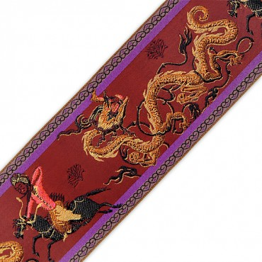 80MM DRAGON JACQUARD RIBBON