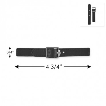 """4 3/4"""" FAUX LEATHER BUCKLE WITH TABS"""